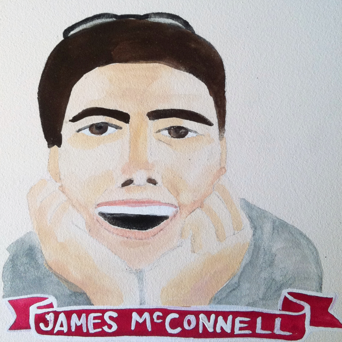 Talent Loves Company at Barbara Archer Gallery: 365 portraits by Lydia Walls - James McConnell