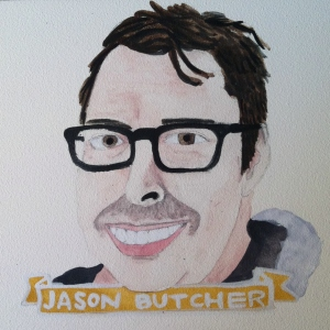 Talent Loves Company at Barbara Archer Gallery: 365 portraits by Lydia Walls - Jason Butcher