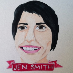 Talent Loves Company at Barbara Archer Gallery: 365 portraits by Lydia Walls - Jen Smith