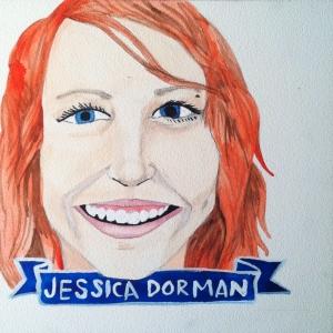 Talent Loves Company at Barbara Archer Gallery: 365 portraits by Lydia Walls - Jessica Dorman