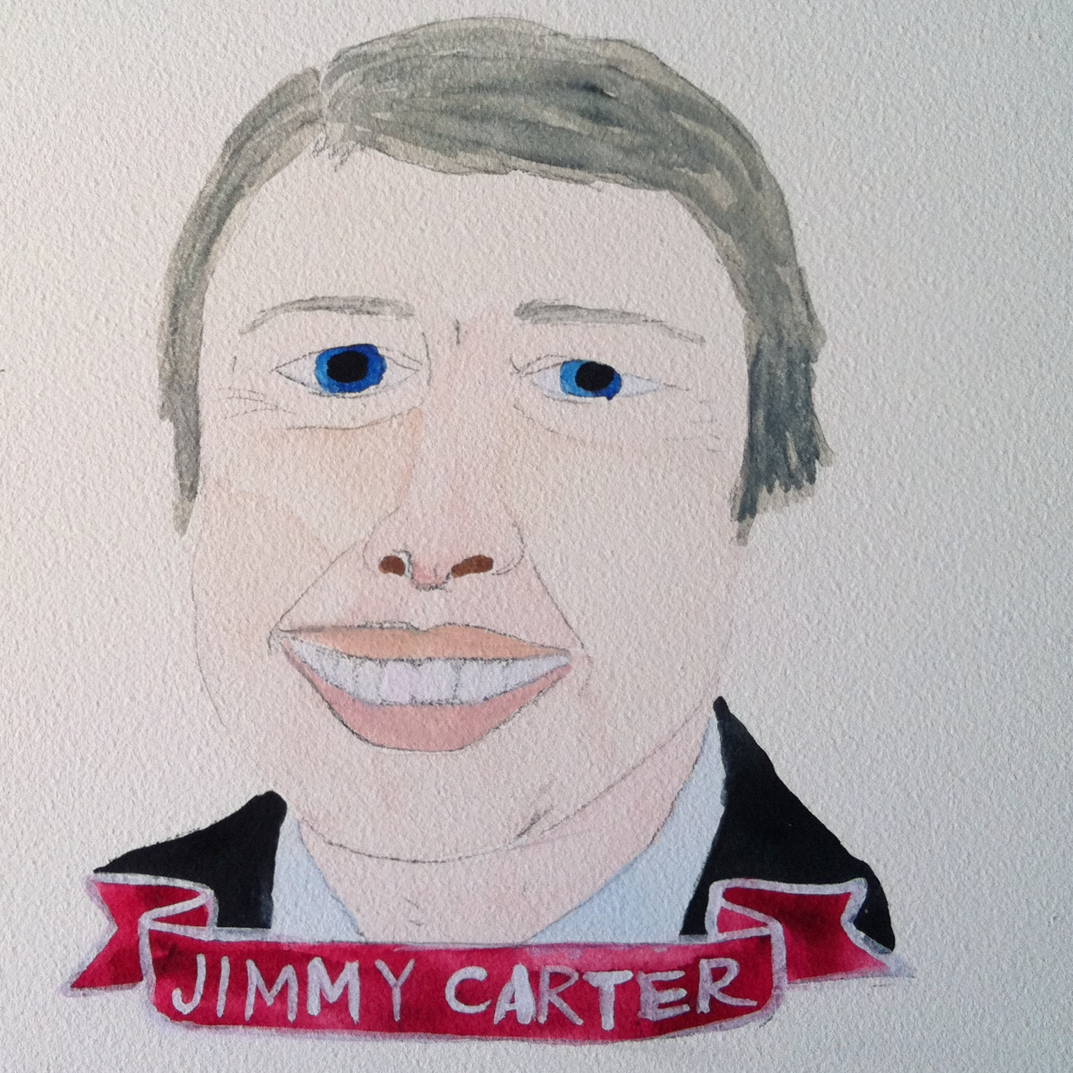 Talent Loves Company at Barbara Archer Gallery: 365 portraits by Lydia Walls - Jimmy Carter