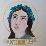 Talent Loves Company at Barbara Archer Gallery: 365 portraits by Lydia Walls - Joan of Arc