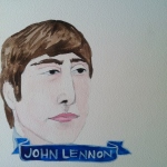 Talent Loves Company at Barbara Archer Gallery: 365 portraits by Lydia Walls - John Lennon
