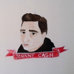 Talent Loves Company at Barbara Archer Gallery: 365 portraits by Lydia Walls - Johnny Cash