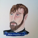 Talent Loves Company at Barbara Archer Gallery: 365 portraits by Lydia Walls - Josh Harrold