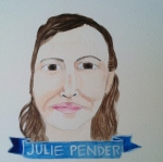 Talent Loves Company at Barbara Archer Gallery: 365 portraits by Lydia Walls - Julie Pender