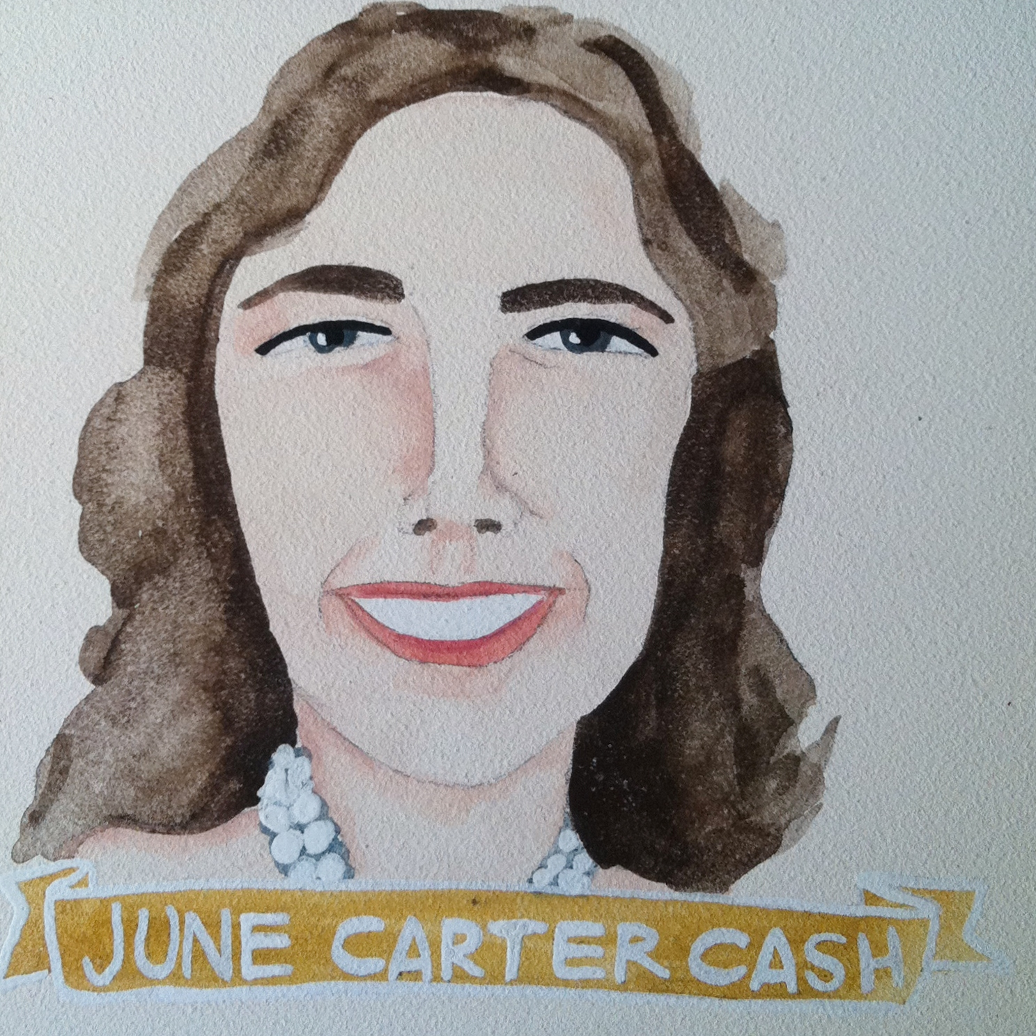 Talent Loves Company at Barbara Archer Gallery: 365 portraits by Lydia Walls - June Carter Cash