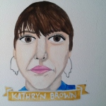 Talent Loves Company at Barbara Archer Gallery: 365 portraits by Lydia Walls - Kathryn Brown