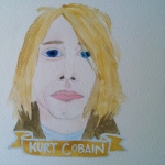 Talent Loves Company at Barbara Archer Gallery: 365 portraits by Lydia Walls - Kurt Cobain