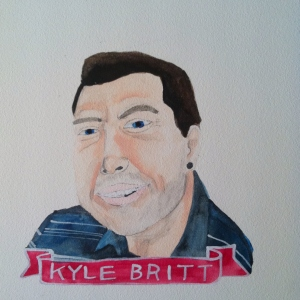 Talent Loves Company at Barbara Archer Gallery: 365 portraits by Lydia Walls - Kyle Britt