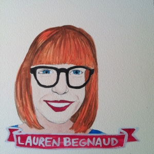 Talent Loves Company at Barbara Archer Gallery: 365 portraits by Lydia Walls - Lauren Begnaud