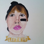 Talent Loves Company at Barbara Archer Gallery: 365 portraits by Lydia Walls - Left Eye