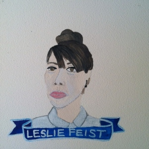 Talent Loves Company at Barbara Archer Gallery: 365 portraits by Lydia Walls - Leslie Feist