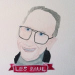 Talent Loves Company at Barbara Archer Gallery: 365 portraits by Lydia Walls - Les Paul