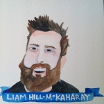 Talent Loves Company at Barbara Archer Gallery: 365 portraits by Lydia Walls - Liam Hill-Mckaharay