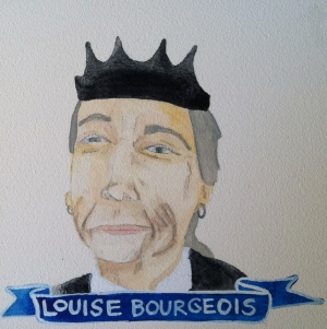 Talent Loves Company at Barbara Archer Gallery: 365 portraits by Lydia Walls - Louise Boureois