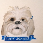 Talent Loves Company at Barbara Archer Gallery: 365 portraits by Lydia Walls - Lucy Jones