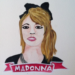 Talent Loves Company at Barbara Archer Gallery: 365 portraits by Lydia Walls - Madonna