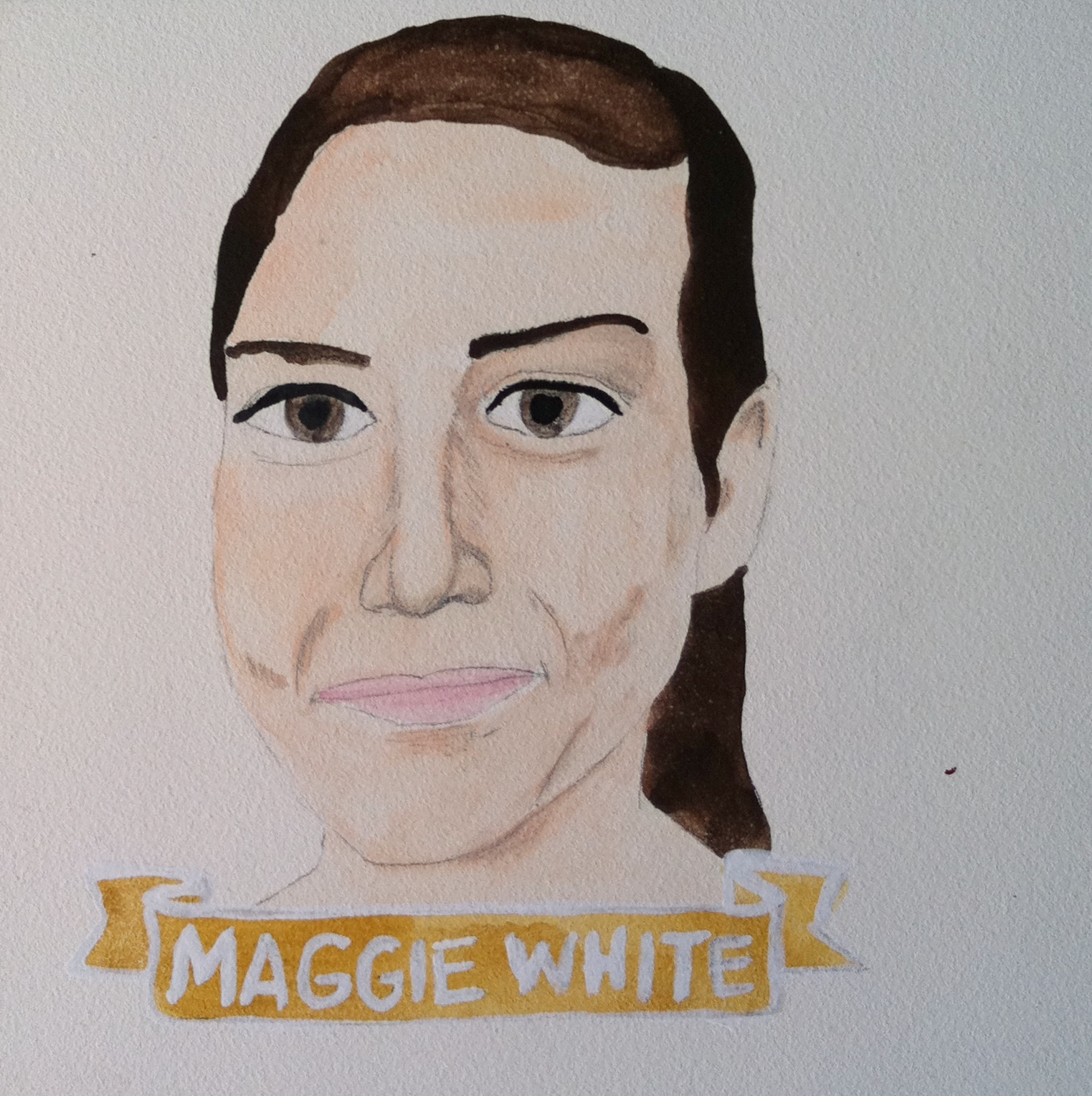 Talent Loves Company at Barbara Archer Gallery: 365 portraits by Lydia Walls - Maggie White