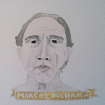 Talent Loves Company at Barbara Archer Gallery: 365 portraits by Lydia Walls - Marcel Duchamp