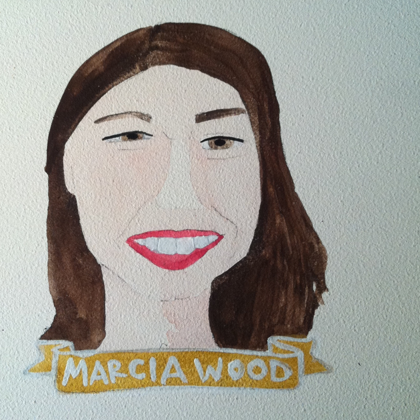 Talent Loves Company at Barbara Archer Gallery: 365 portraits by Lydia Walls - Marcia Wood