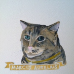 Talent Loves Company at Barbara Archer Gallery: 365 portraits by Lydia Walls - Marcus Aurelius