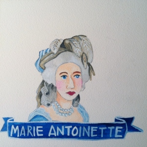 Talent Loves Company at Barbara Archer Gallery: 365 portraits by Lydia Walls - Marie Antoinette