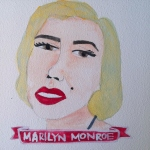 Talent Loves Company at Barbara Archer Gallery: 365 portraits by Lydia Walls - Marilyn Monroe