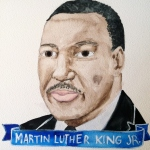 Talent Loves Company at Barbara Archer Gallery: 365 portraits by Lydia Walls - MLK