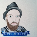 Talent Loves Company at Barbara Archer Gallery: 365 portraits by Lydia Walls - Matt Miller