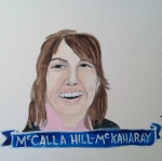 Talent Loves Company at Barbara Archer Gallery: 365 portraits by Lydia Walls - Mccalla Hill-mckaharay
