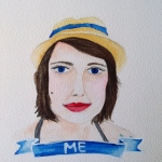 Talent Loves Company at Barbara Archer Gallery: 365 portraits by Lydia Walls - self portrait