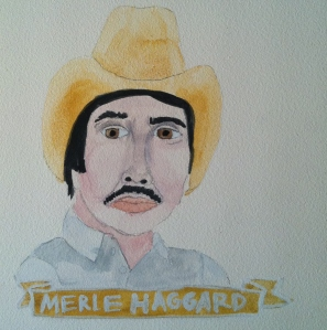Talent Loves Company at Barbara Archer Gallery: 365 portraits by Lydia Walls - Merle Haggard