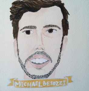 Talent Loves Company at Barbara Archer Gallery: 365 portraits by Lydia Walls - Michael Besozzi