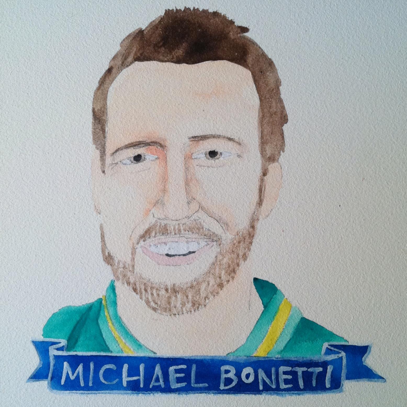 Talent Loves Company at Barbara Archer Gallery: 365 portraits by Lydia Walls - Michael Bonetti