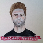 Talent Loves Company at Barbara Archer Gallery: 365 portraits by Lydia Walls - Michael Fenster