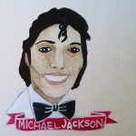 Talent Loves Company at Barbara Archer Gallery: 365 portraits by Lydia Walls - Michael Jackson