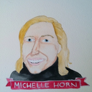 Talent Loves Company at Barbara Archer Gallery: 365 portraits by Lydia Walls - Michelle Horn