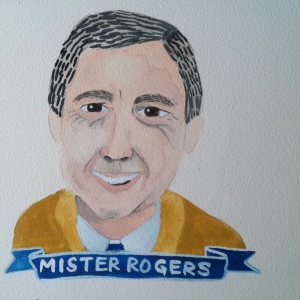 Talent Loves Company at Barbara Archer Gallery: 365 portraits by Lydia Walls - Mister Rogers