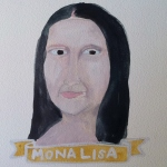 Talent Loves Company at Barbara Archer Gallery: 365 portraits by Lydia Walls - Mona Lisa
