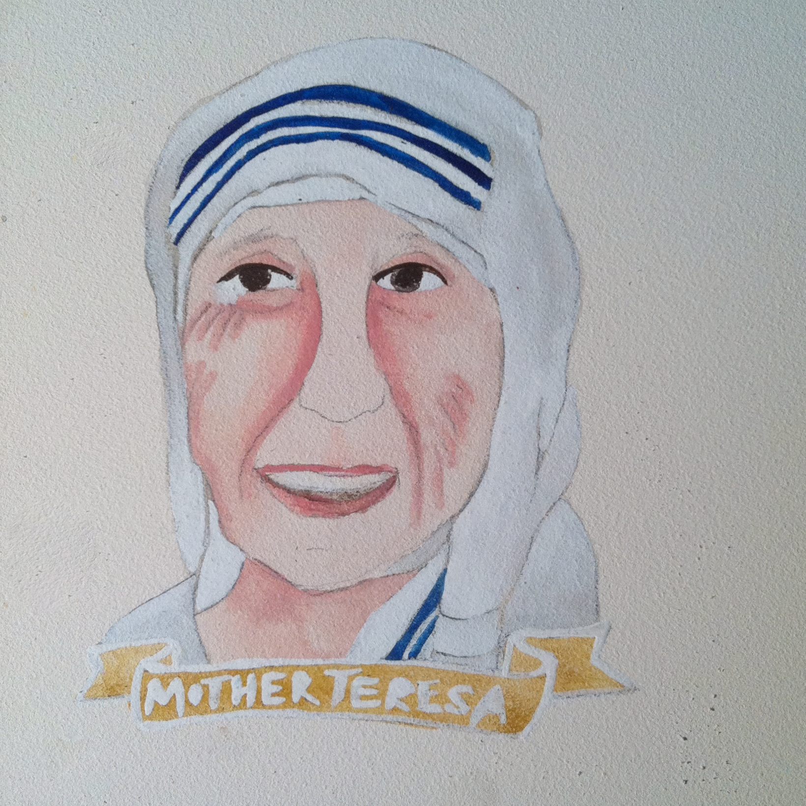 Talent Loves Company at Barbara Archer Gallery: 365 portraits by Lydia Walls - Mother Teresa