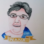 Talent Loves Company at Barbara Archer Gallery: 365 portraits by Lydia Walls - Nana