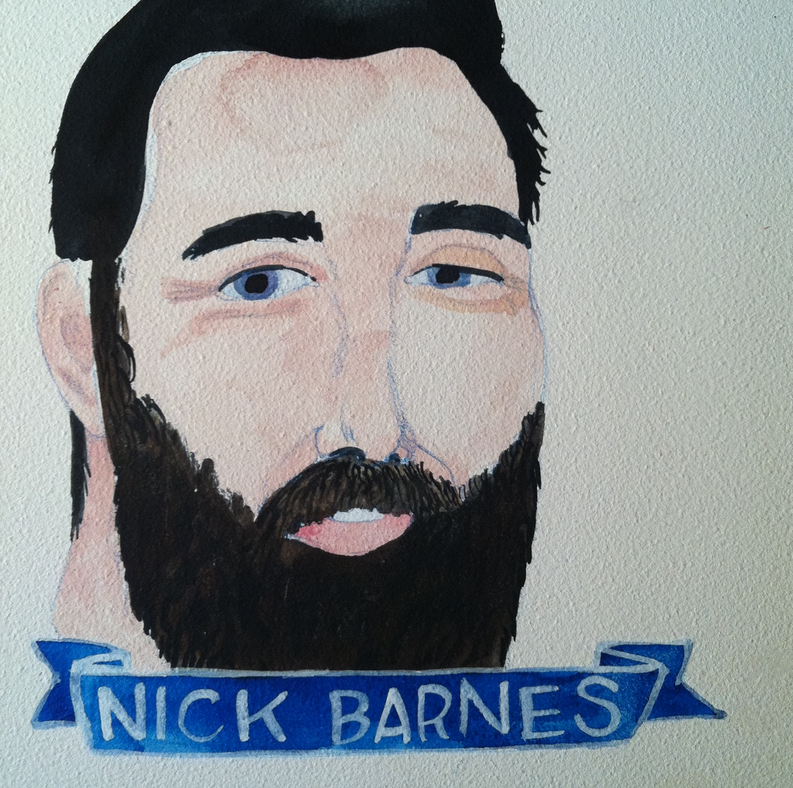 Talent Loves Company at Barbara Archer Gallery: 365 portraits by Lydia Walls - Nick Barnes