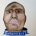 Talent Loves Company at Barbara Archer Gallery: 365 portraits by Lydia Walls - Notorious BIG