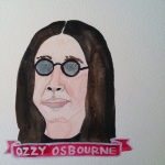 Talent Loves Company at Barbara Archer Gallery: 365 portraits by Lydia Walls - Ozzy Osbourne