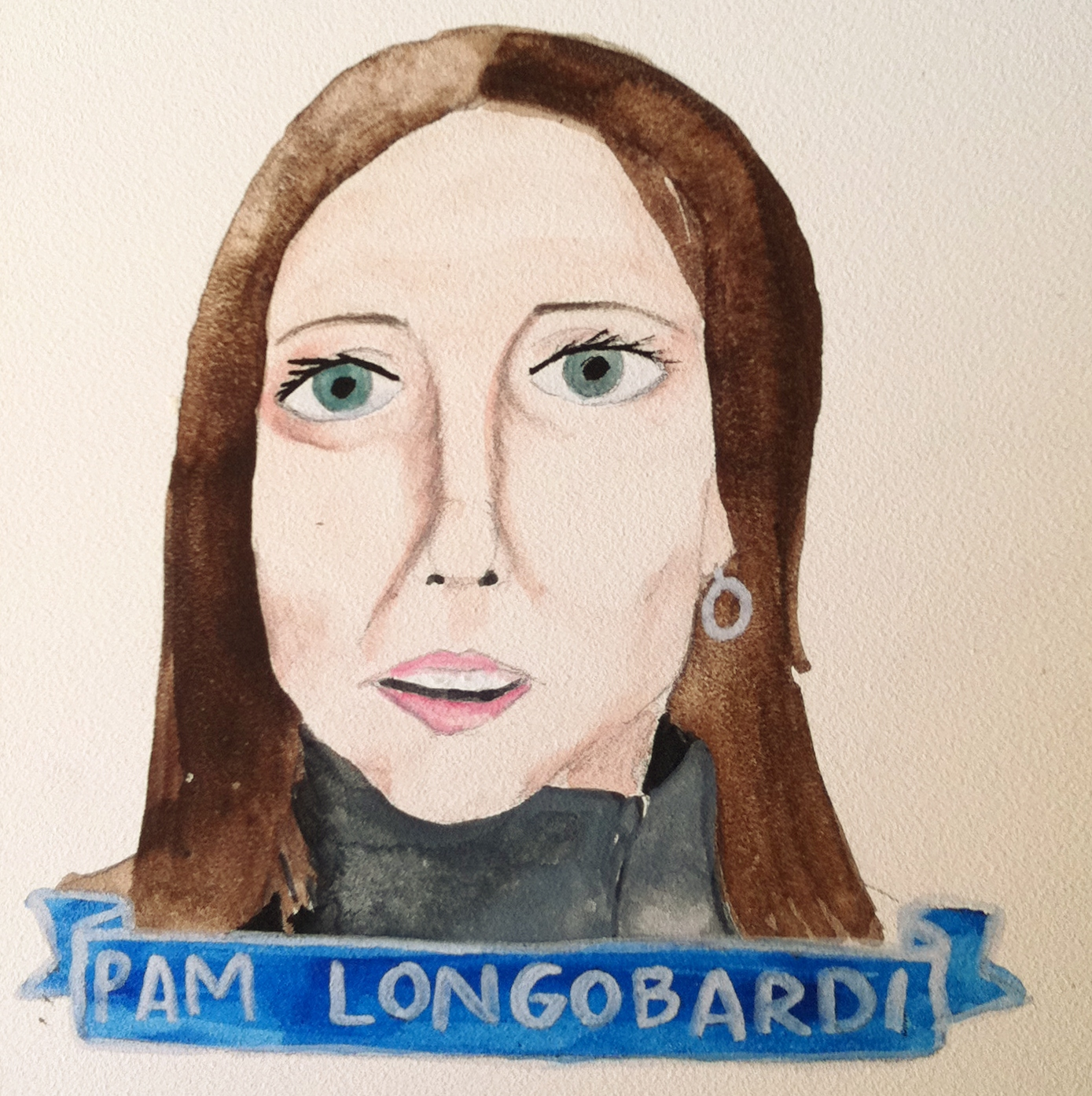Talent Loves Company at Barbara Archer Gallery: 365 portraits by Lydia Walls - Pam Longobardi