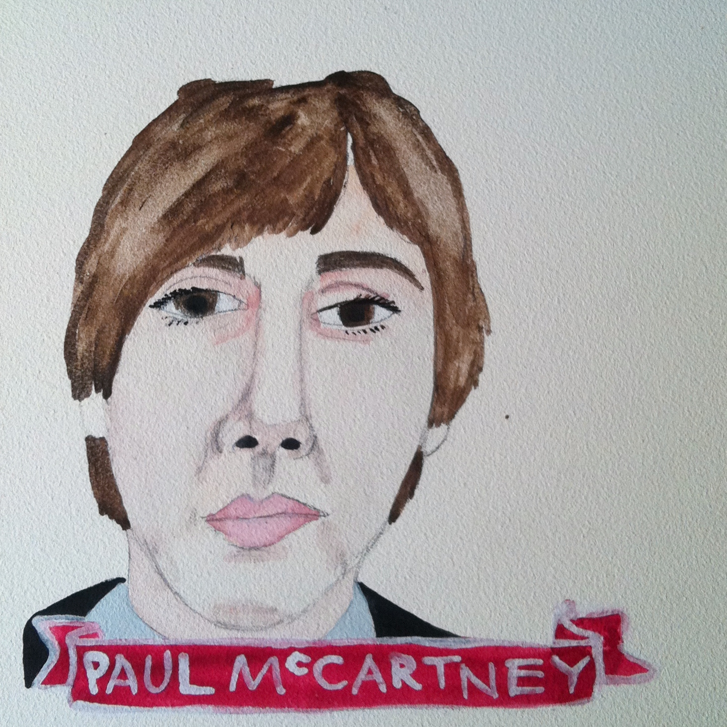 Talent Loves Company at Barbara Archer Gallery: 365 portraits by Lydia Walls - Paul McCartney