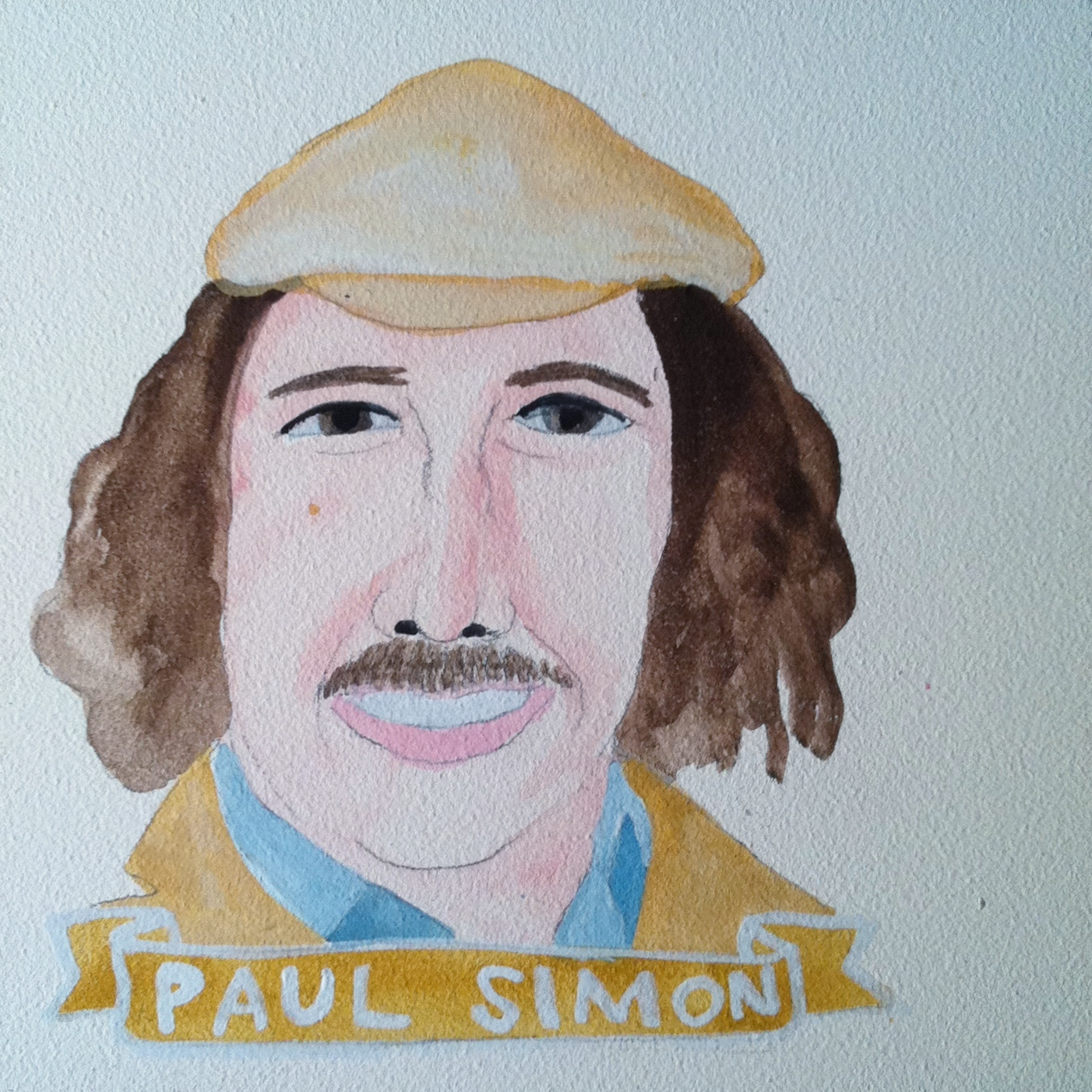 Talent Loves Company at Barbara Archer Gallery: 365 portraits by Lydia Walls - Paul Simon