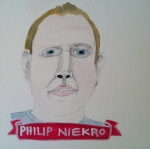 Talent Loves Company at Barbara Archer Gallery: 365 portraits by Lydia Walls - Philip Niekro