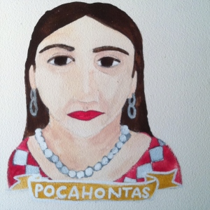 Talent Loves Company at Barbara Archer Gallery: 365 portraits by Lydia Walls - Pocahontas